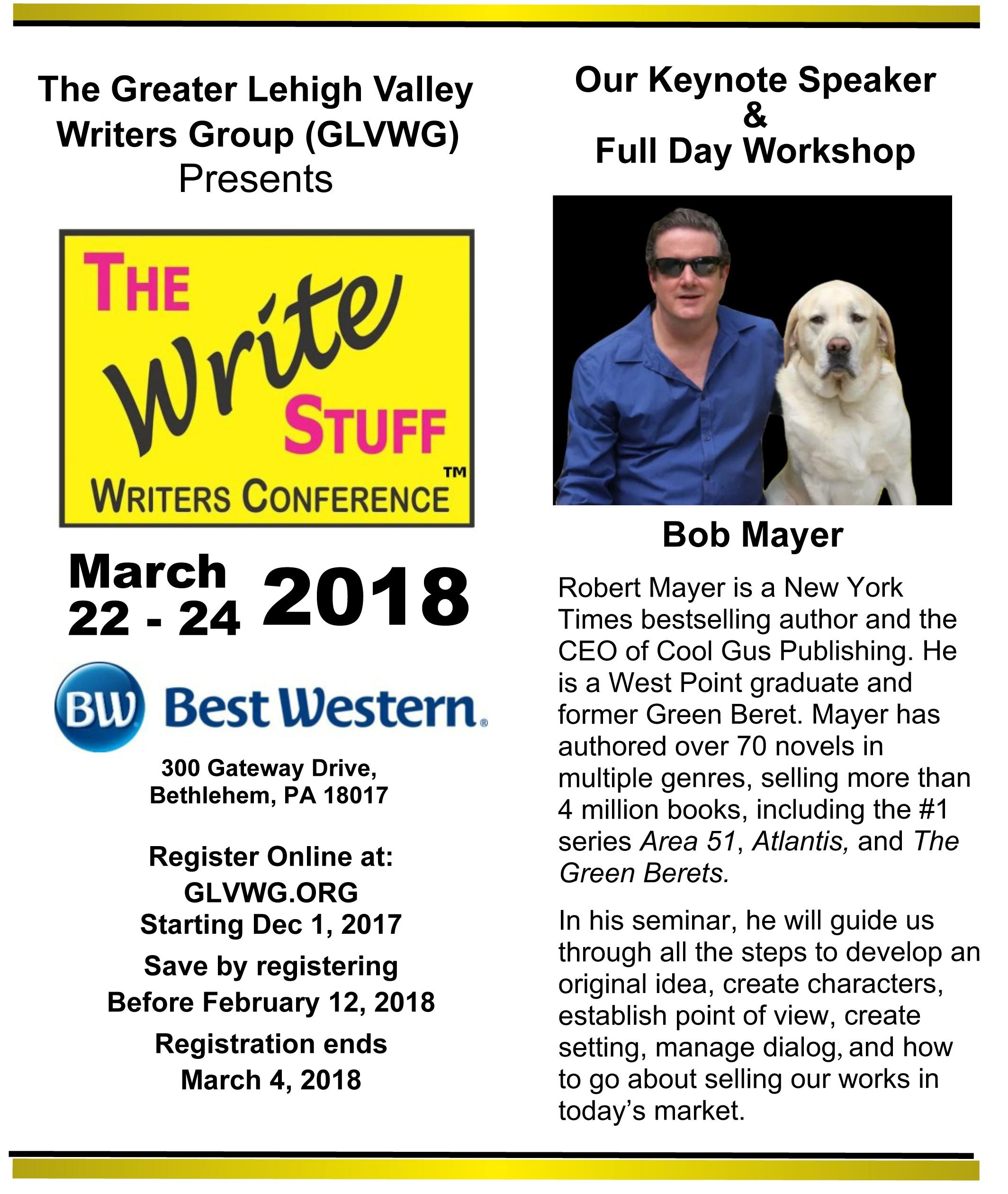 Write Stuff Conference brochure 2018-2