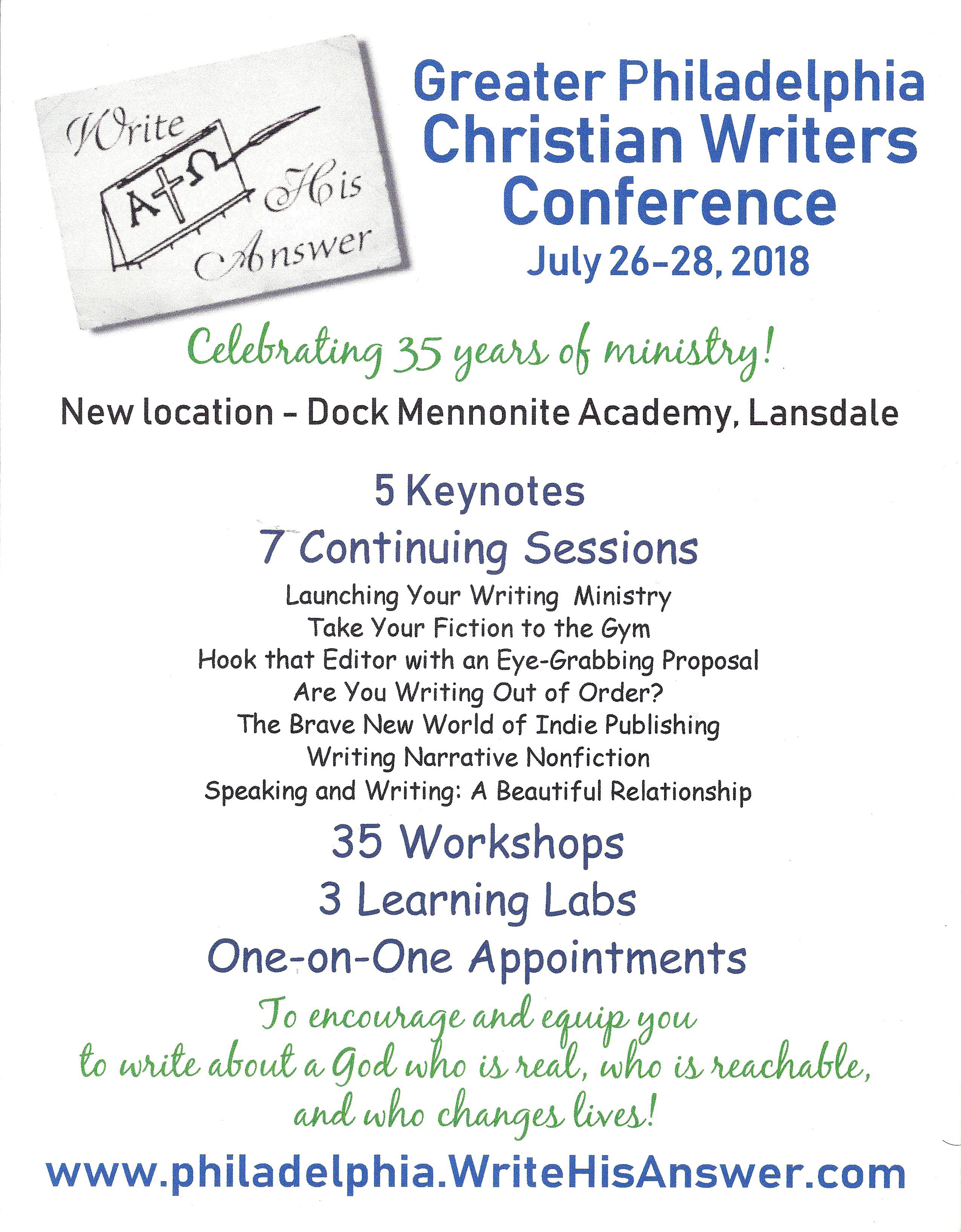 Philly Christian Writers Conference