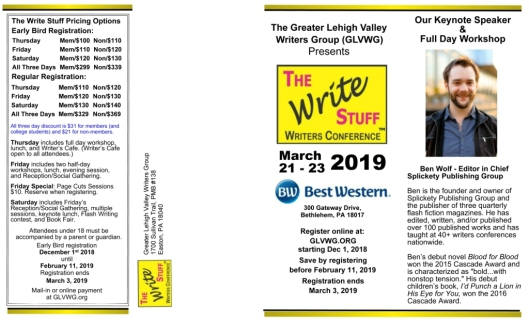 Write Stuff Conference brochure 2019 V4